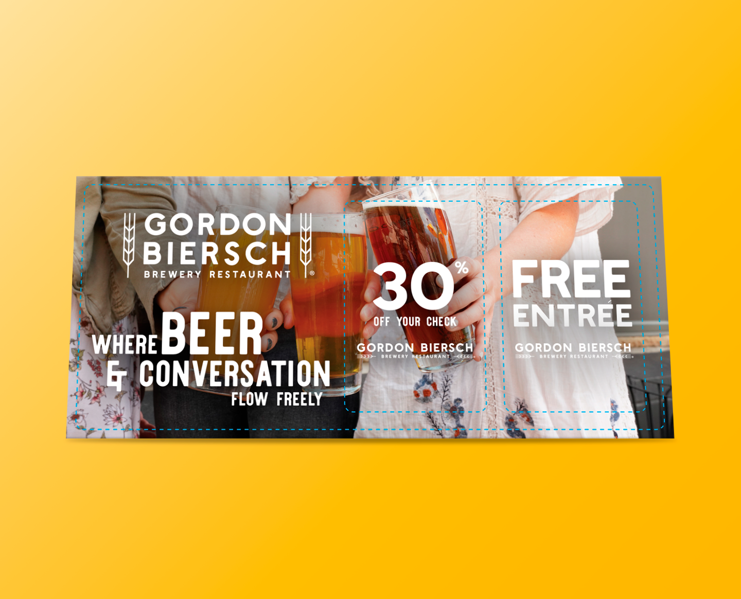 Gordon Biersch coupon advertising discounts