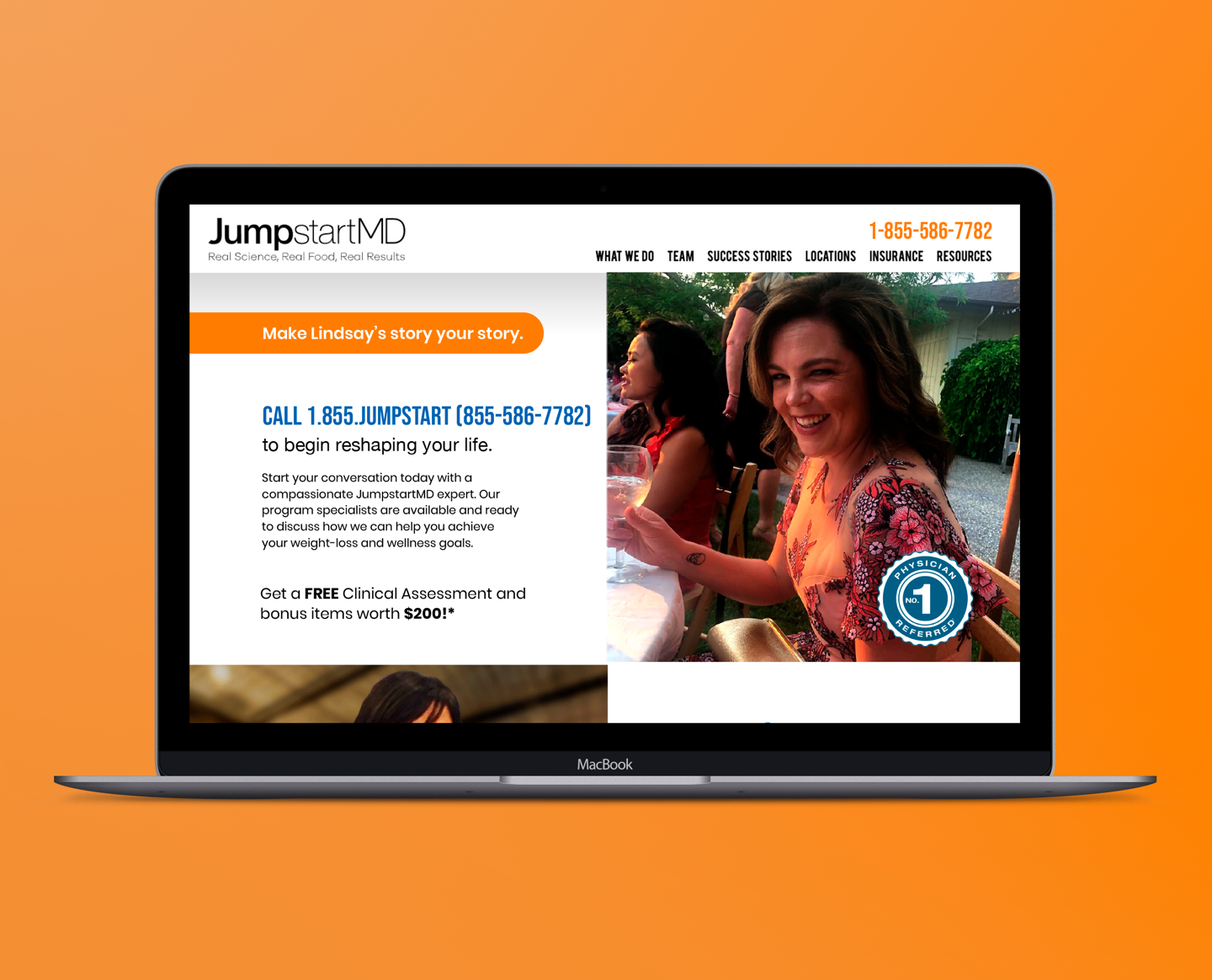 Image of landing page created for JumpStart